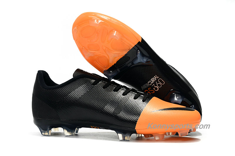 Nike Mercurial Greenspeed 360 FG Firm Ground Herren Fußballschuhe (Schwarz / Orange)